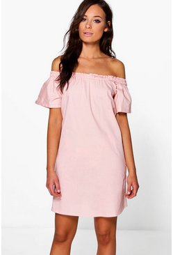Anna Off The Shoulder Cotton Sun Dress
