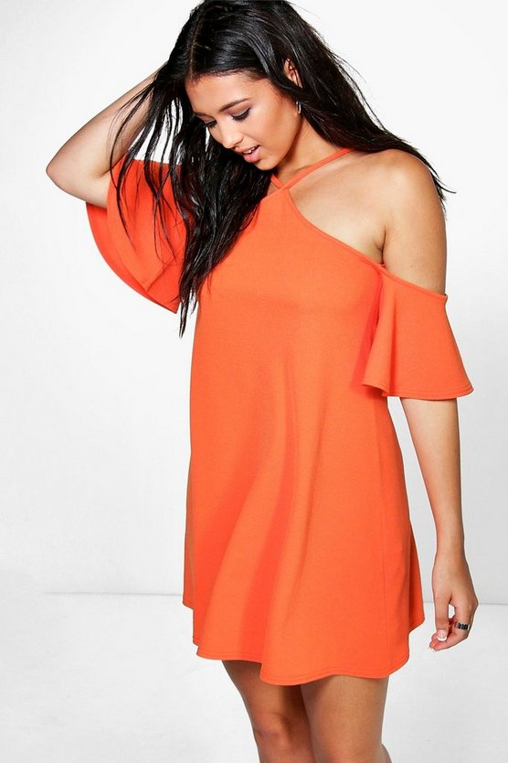 Sammy Strappy High Neck Cold Shoulder Dress
