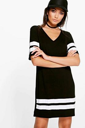 Tara Sports Trim Shift Dress