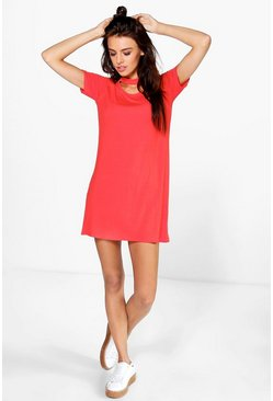 Lindsay Strap Detail T-Shirt Dress