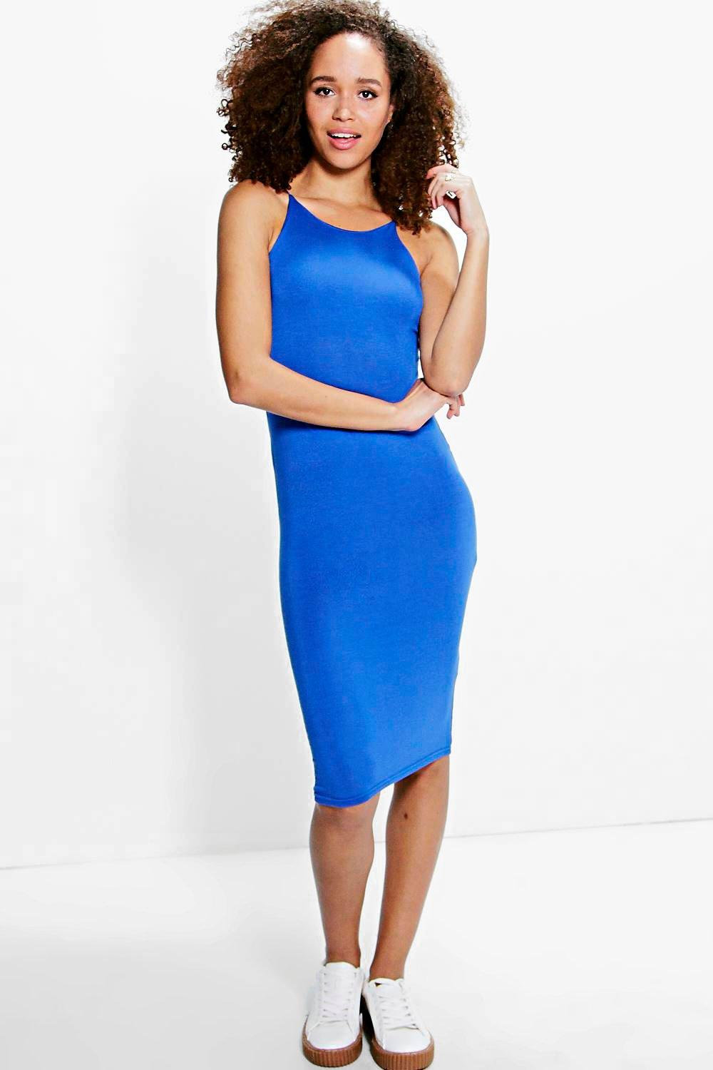 Alicia Spaghetti Strap Midi Dress