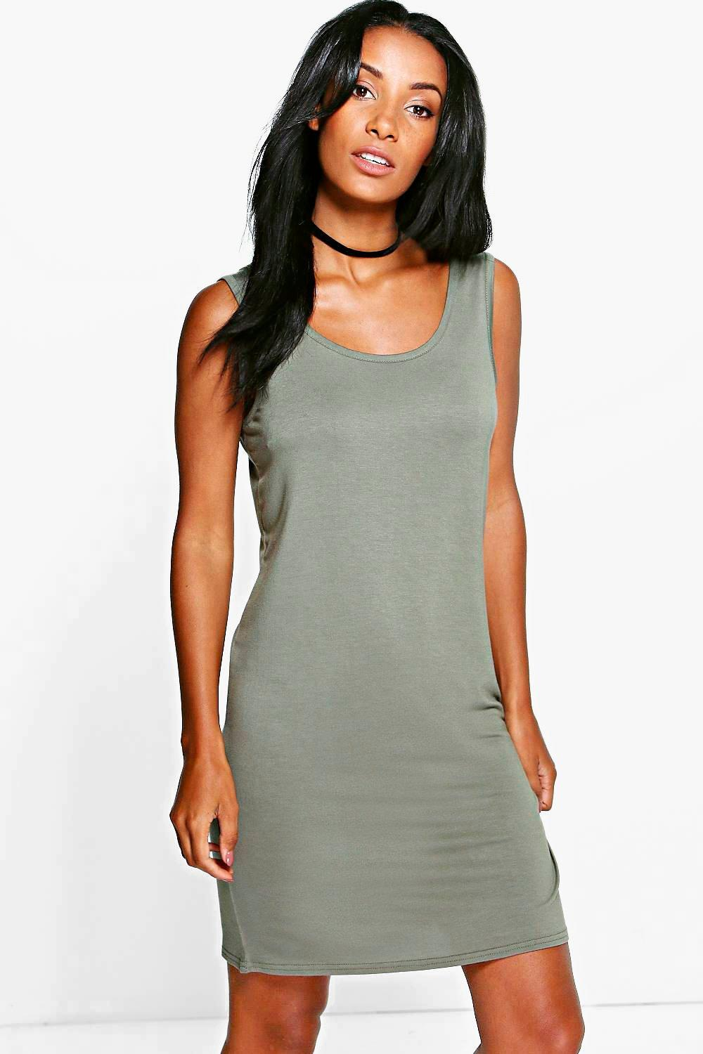 Tina Scoop Neck Shift Dress