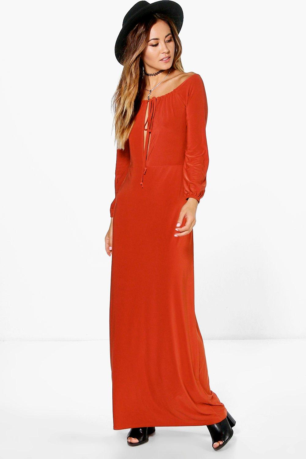 Rosie Strappy Off Shoulder Maxi Dress