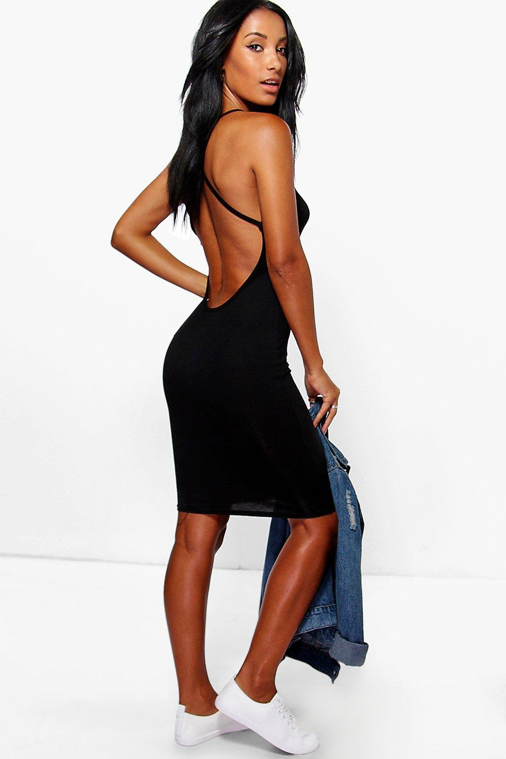 Hannah Strappy Cross Back Mini Dress