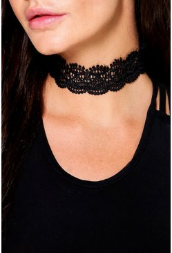 Ruby Scalloped Lace Choker