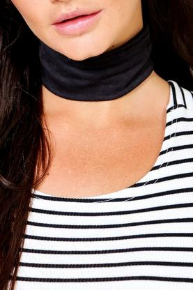 Freya Suedette Wide Stretch Choker