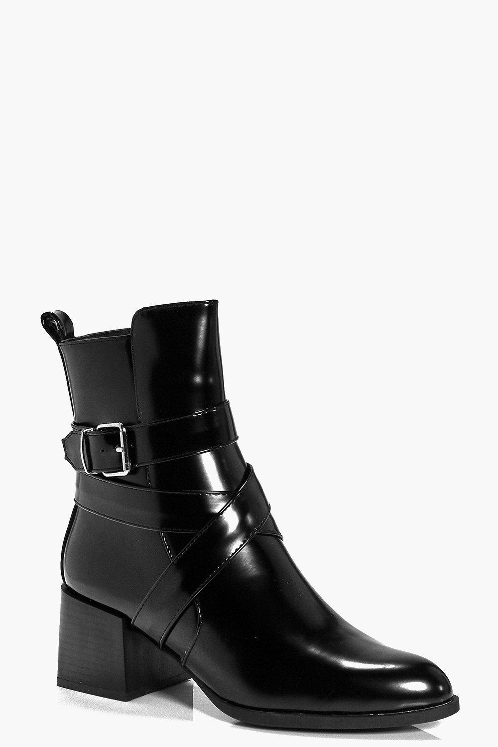 Lucy High Ankle Block Heel Boot