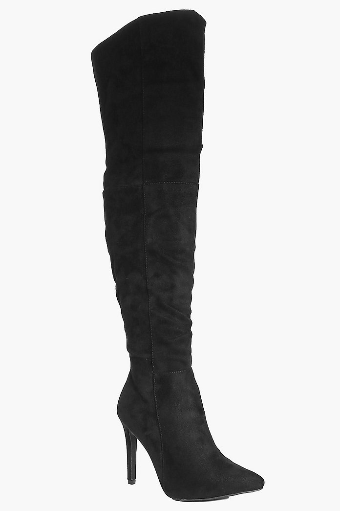 Violet Pointed Over The Knee Boot