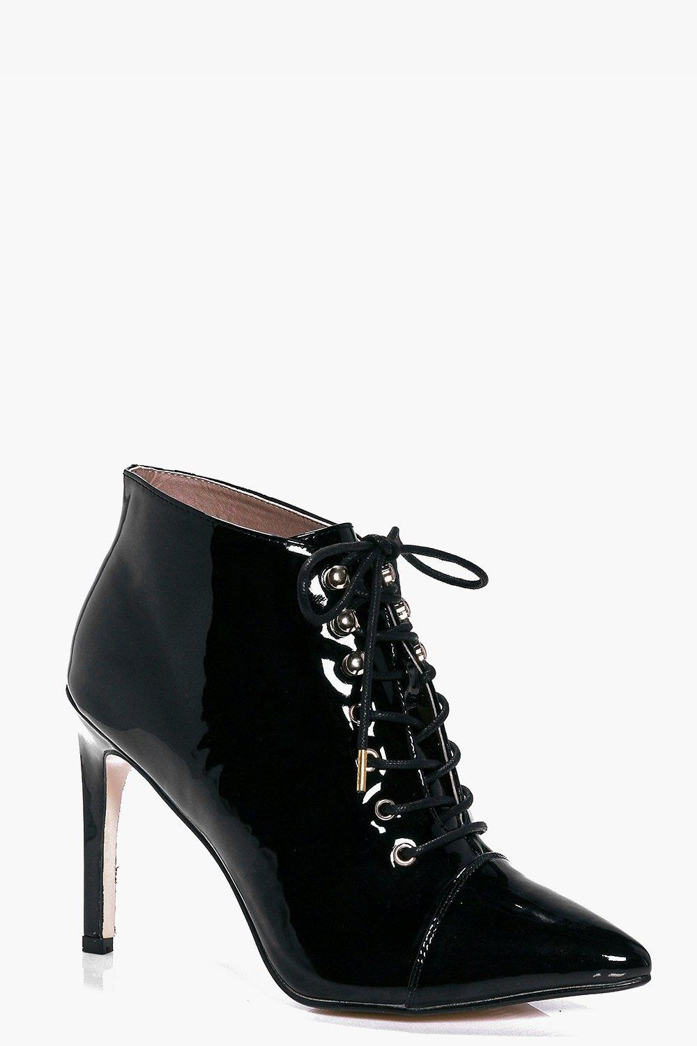 Jemima Pointed Lace Up Boot