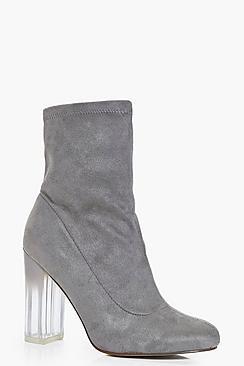 Neve Clear Heel Sock Boot