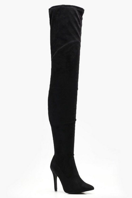 Nicole Thigh High Pointed Boots