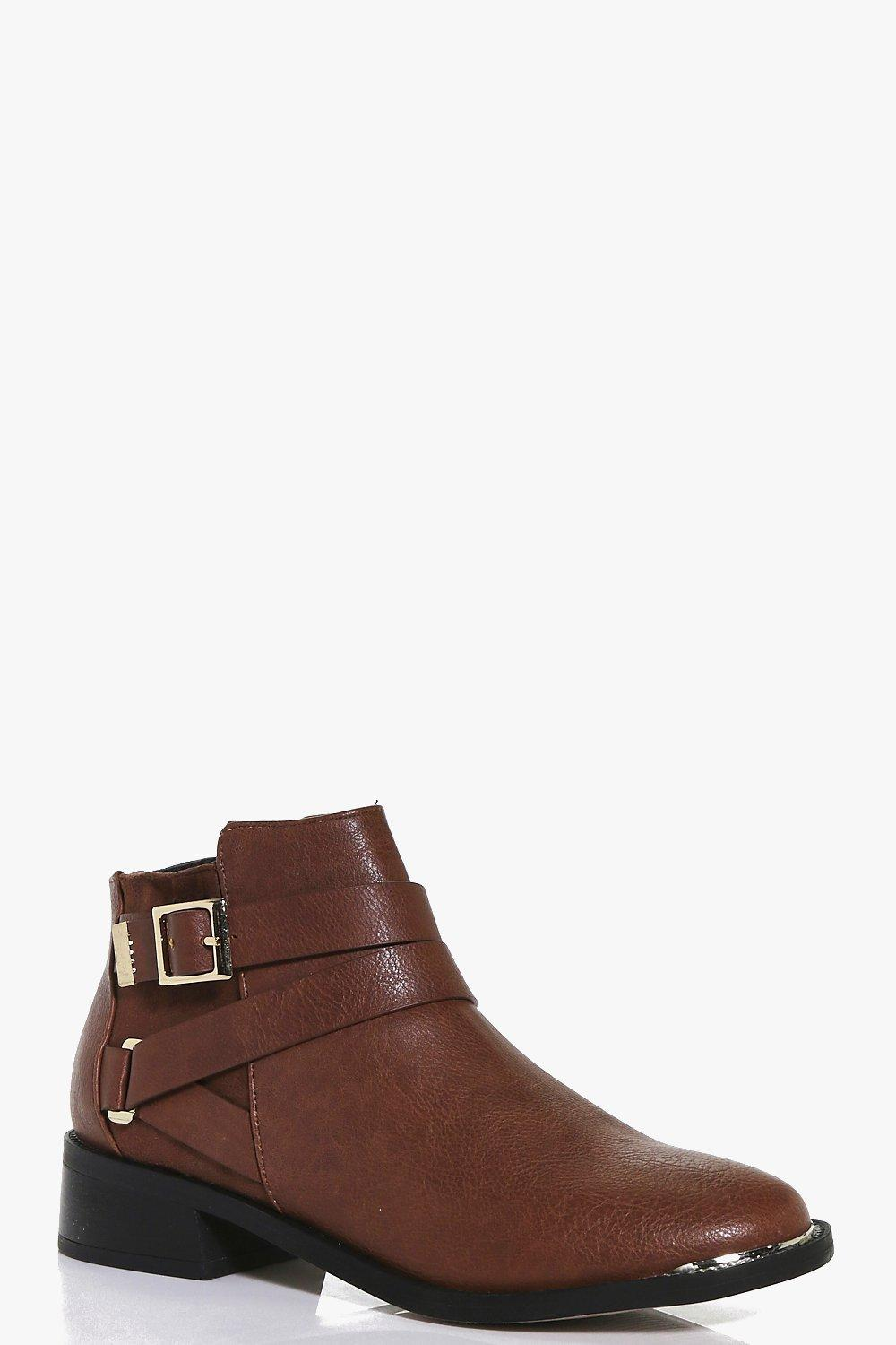Orla Wrap Strap Buckle Chelsea Boot