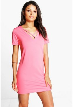 Grace Strappy V Front Shift Dress