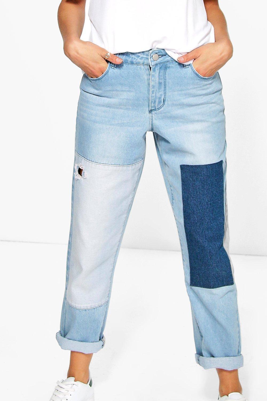 boohoo womens alice patchwork boyfriend jeans ebay. Black Bedroom Furniture Sets. Home Design Ideas