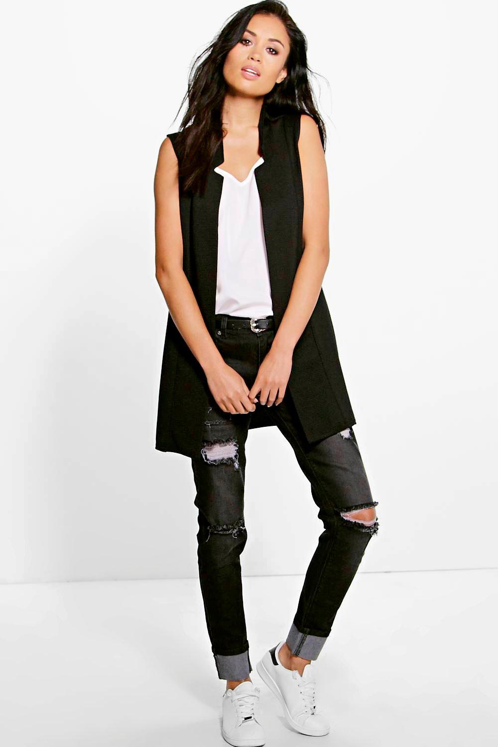 Eleanor Sleeveless Rib Duster