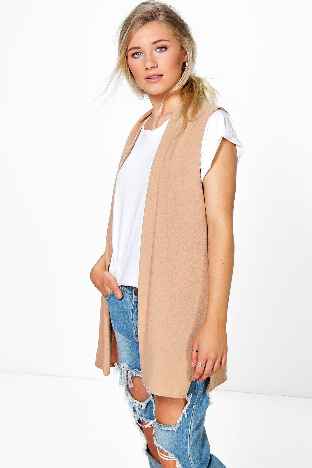 Rosie Sleeveless Collared Short Duster