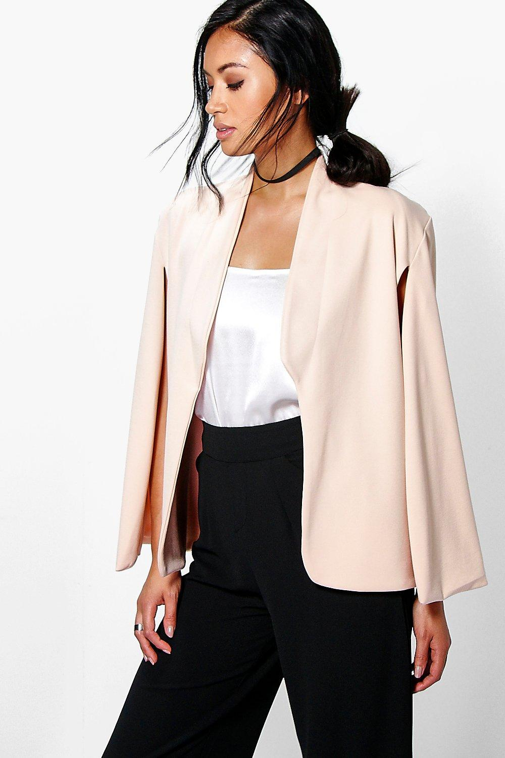 Maya Collared Cape Blazer