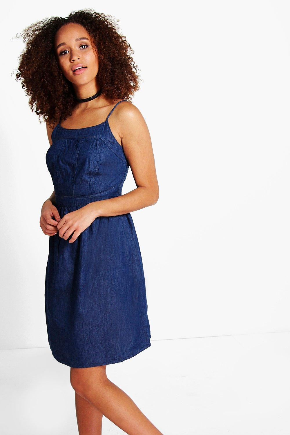 Sinead Strappy Denim Slim Dress