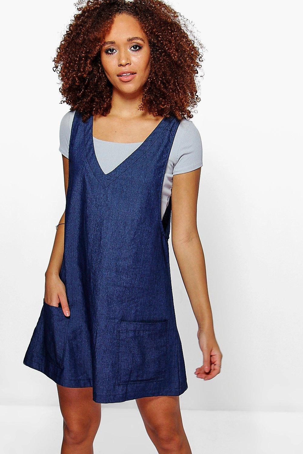 Sammie Pocket Front Denim Dress