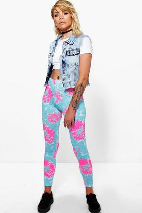 Haley Fluro Tie Dye Leggings