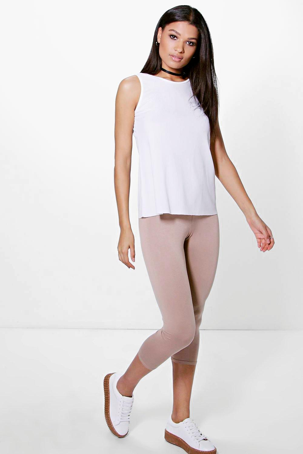 Amari 3/4 Length Basic Leggings sand