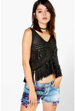 Louise Paisley Denim Hotpants