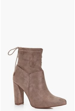 Matilda Tie Ankle Sock Boot