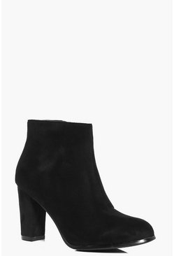 Emilia Gold Heel Ankle Boot