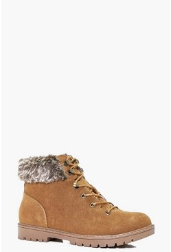 Maisie Faux Fur Ankle Hiker Boot