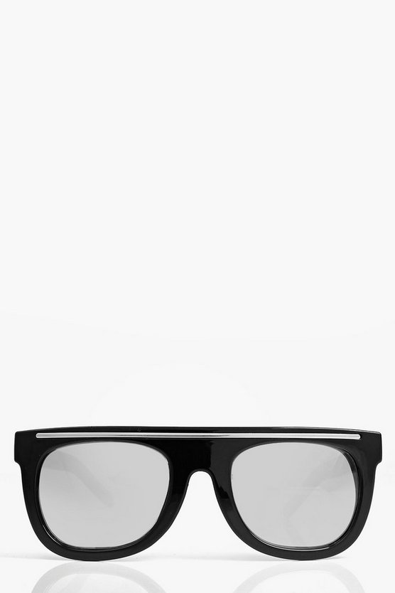 Grace Metal Brow Detail Wayfarer Sunglasses