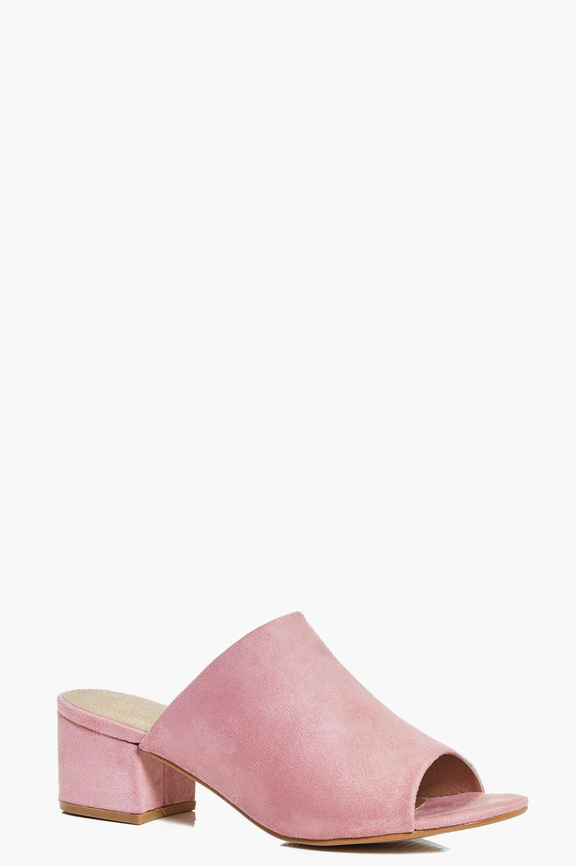 Poppy Block Heel Mule