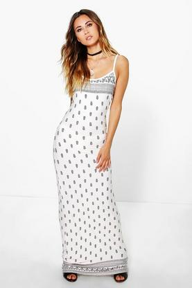 Sarah Paisley Printed Strappy Maxi Dress