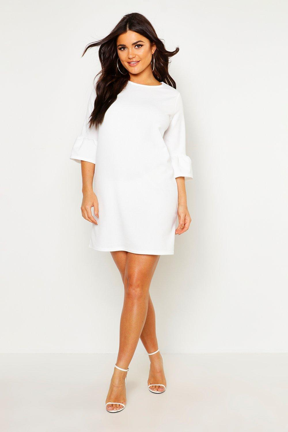 Casey Ruffle Sleeve Shift Dress