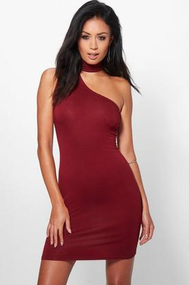 Micha Choker Detail Bodycon Mini Dress