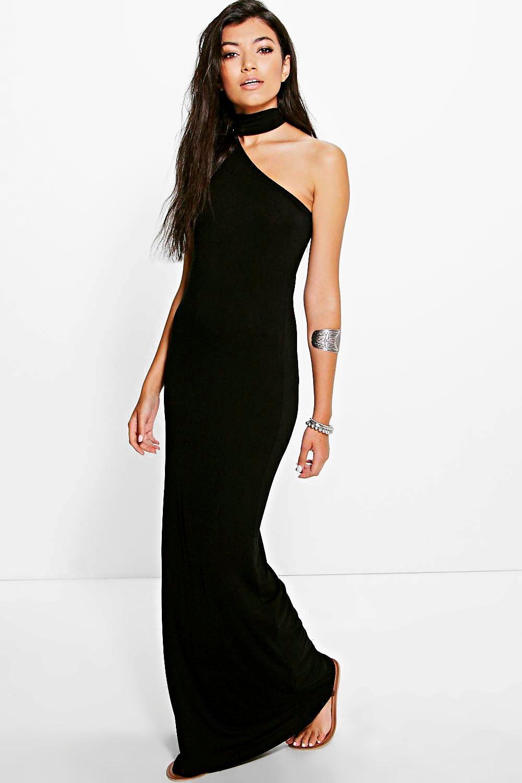 Choker Detail Maxi Dress black