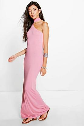 Pamela Choker Detail Maxi Dress