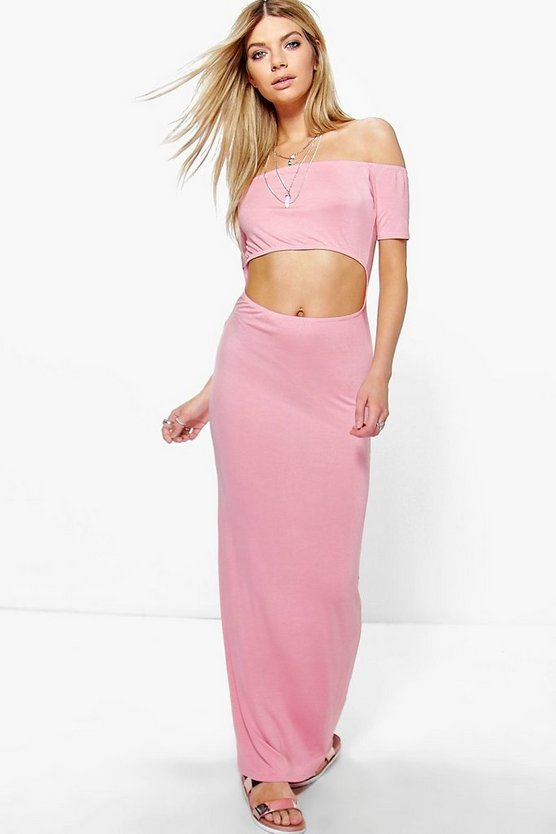 Alisha Off Shoulder Cut Out Maxi Dress