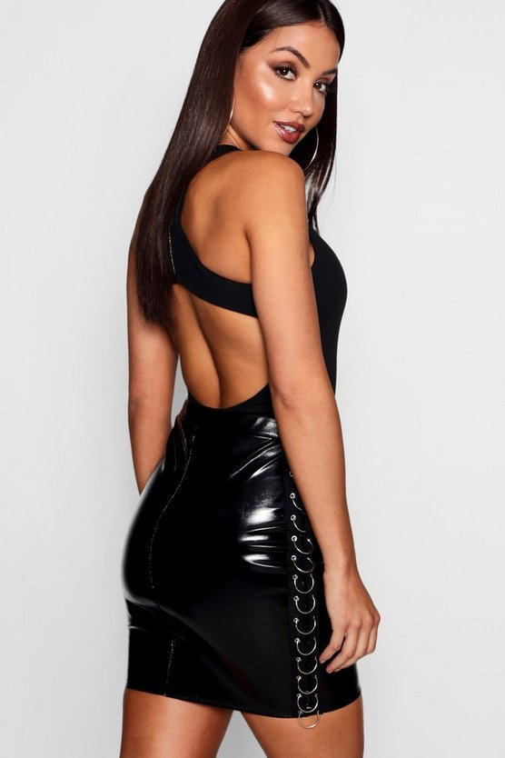 Evie Mesh Panel Backless Bodysuit