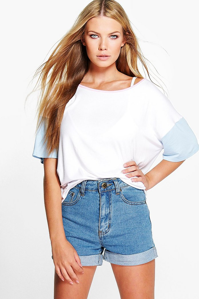 Holly Oversized Pastel Colour Block Tee