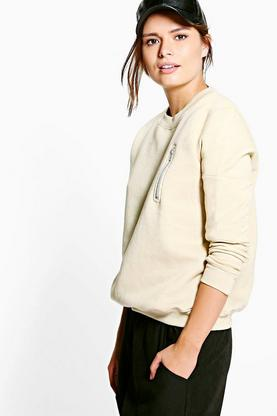 Millie Zip Detail Sweatshirt