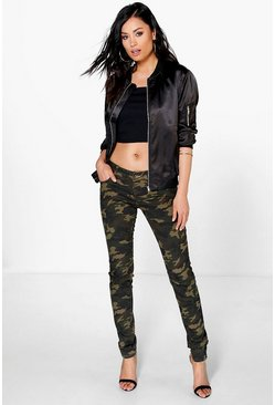 Ruby Mid Rise Camo Jeans
