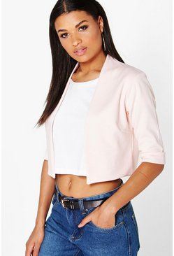 Erin Crop Scuba Edge To Edge Blazer