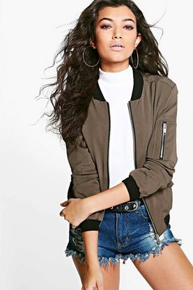 Charlotte Sleek Bomber Jacket