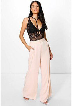 Boutique Adaline Satin Wide Leg Trouser