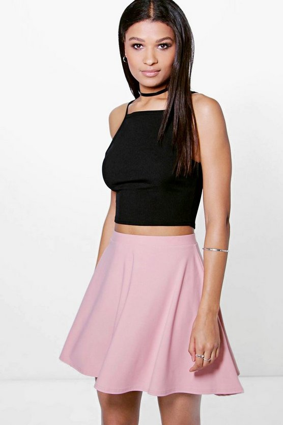 Adana Full Soft Crepe Skater Skirt