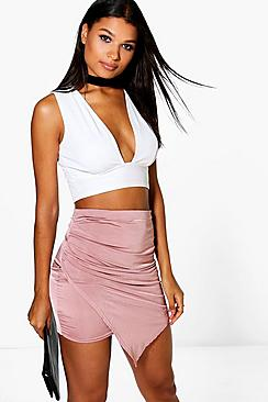 Eeva Wrap Front Soft Touch Mini Skirt