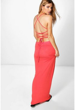 Allessa Strappy Back Maxi Dress