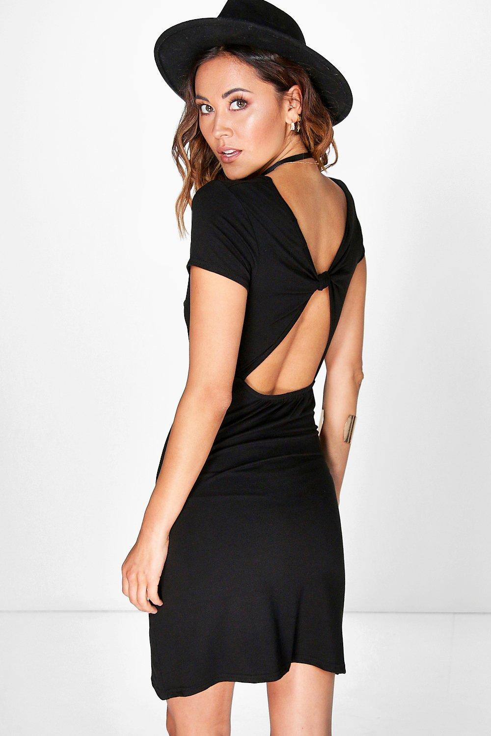 Charlotte Knot Back Shift Dress