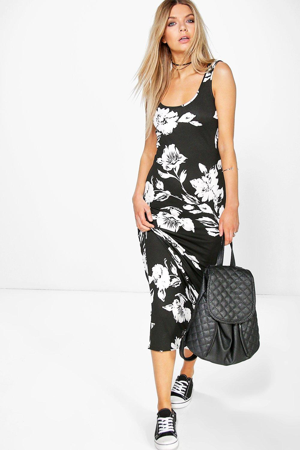 Emma Sleeveless Floral Printed Maxi Dress