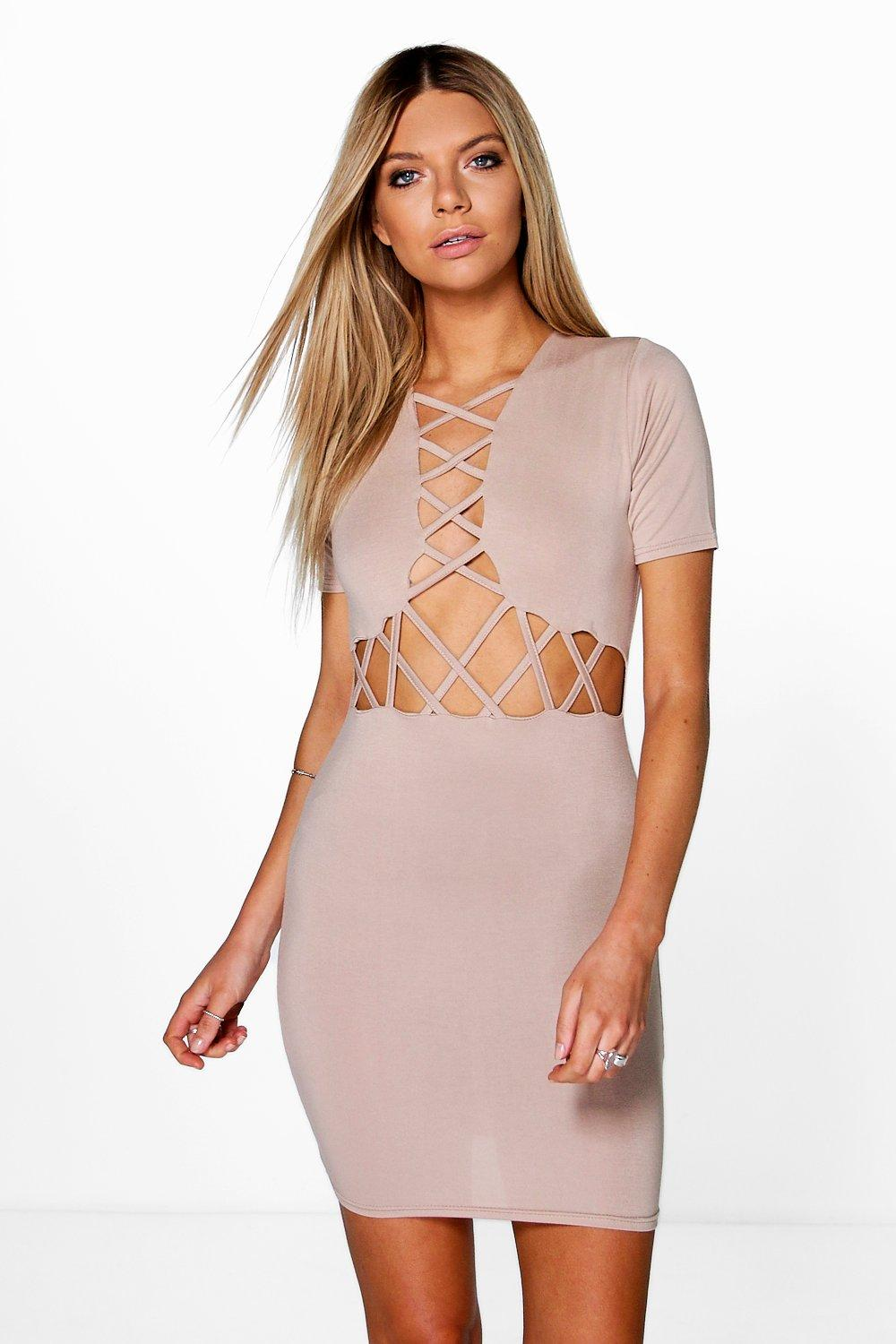 Josie Lattice Cut Out Bodycon Dress